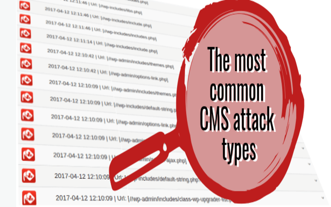 The most common CMS attack types