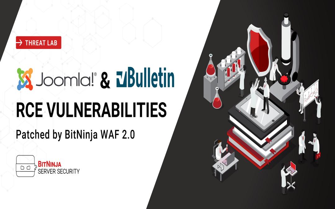 Joomla & vBulletin RCE vulnerabilities patched by BitNinja WAF 2.0